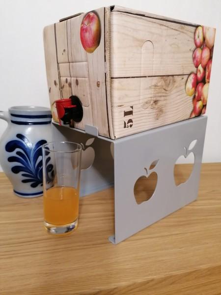 Bag in Box Ständer + 5 Liter Apfelsaft zum Sonderpreis